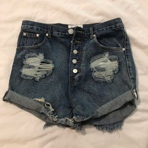 One by One Teaspoon Outlaws Denim Shorts